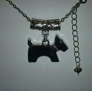 Jewelry - AIREDALE SILVER CRYSTAL DOG NECKLACE